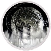 The Unisphere's 50th Anniversary Round Beach Towel by Ed Weidman