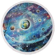 The Universe Is My Playground Round Beach Towel