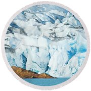 The Viedma Glacier Terminating Round Beach Towel