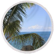 Key West Ocean View Round Beach Towel
