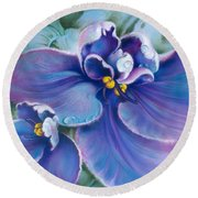 The Violet Round Beach Towel
