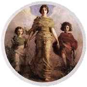 The Virgin Round Beach Towel by Abbott Handerson Thayer