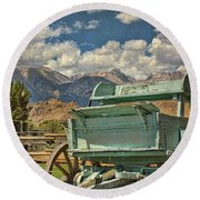 The Wagon Round Beach Towel by Peggy Hughes