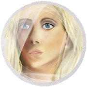 The Waiting Bride Round Beach Towel