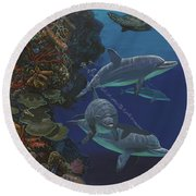 The Wall Re007 Round Beach Towel
