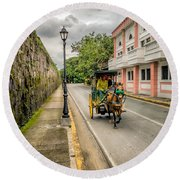 The Walled City Round Beach Towel