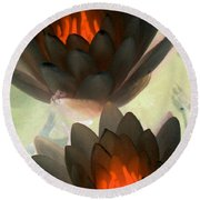 Round Beach Towel featuring the photograph The Water Lilies Collection - Photopower 1042 by Pamela Critchlow