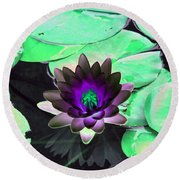 The Water Lilies Collection - Photopower 1113 Round Beach Towel by Pamela Critchlow