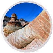 'the Wave' North Coyote Buttes 10 Round Beach Towel