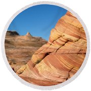 'the Wave' North Coyote Buttes 13 Round Beach Towel
