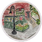 The Waverly Inn And Garden Round Beach Towel