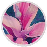 Round Beach Towel featuring the painting The Way You Look Tonight by Sandi Whetzel