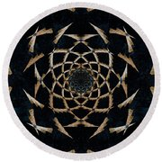The Web Round Beach Towel