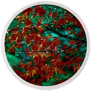 The Whispering Leaves Of Autumn Round Beach Towel