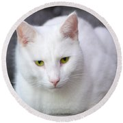 The White Beauty Round Beach Towel