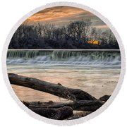 The White River Round Beach Towel
