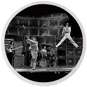 The Who - A Pencil Study - Designed By Doc Braham Round Beach Towel