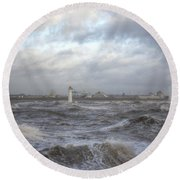 The Wild Mersey Round Beach Towel by Spikey Mouse Photography