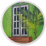 The Window Round Beach Towel