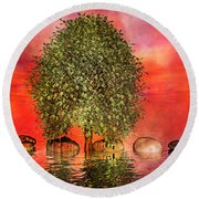The Wishing Tree One Of Two Round Beach Towel