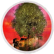 The Wishing Tree Two Of Two Round Beach Towel