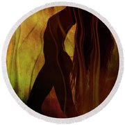 The Witches Dance... Round Beach Towel