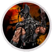 The Wolverine Round Beach Towel