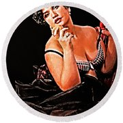 The Woman Round Beach Towel