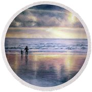 The Wonder Of Light Round Beach Towel by Rosemary Colyer