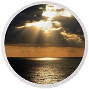Key West Sunset The Word Round Beach Towel