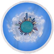 The World Of Miami Round Beach Towel by Carsten Reisinger
