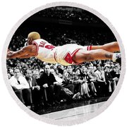 The Worm Dennis Rodman Round Beach Towel by Brian Reaves