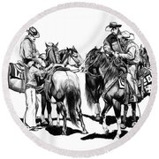 The Youngster Round Beach Towel by Cheryl Poland
