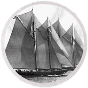 Thebaud Passes Bluenose Round Beach Towel