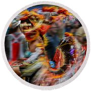 Their Spirit Is Among Us - Nanticoke Powwow Delaware Round Beach Towel