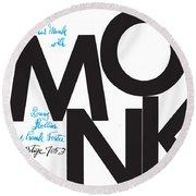 Thelonious Monk -  Monk (prestige 7053) Round Beach Towel