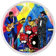 Then 2 Now Round Beach Towel by Everett Spruill