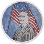 Theodore Roosevelt Round Beach Towel by Kathy Marrs Chandler