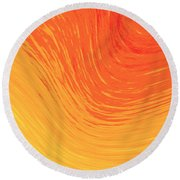 Round Beach Towel featuring the photograph Heat Wave by Kellice Swaggerty