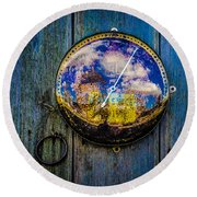Thermometer Round Beach Towel