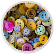 Round Beach Towel featuring the photograph Thimble And Needle by Edgar Laureano