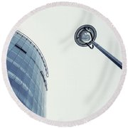 Things Are Looking Up Round Beach Towel