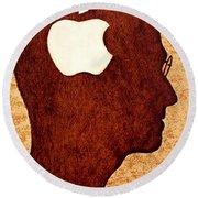 Think Different Tribute To Steve Jobs Round Beach Towel by Georgeta  Blanaru