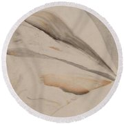 Round Beach Towel featuring the painting Thinker by Mike Breau