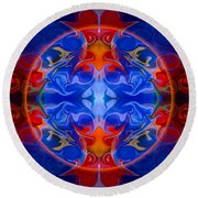 Third Eye Abstract Living Art By Omaste Witkowski Round Beach Towel