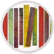 Thirty Stripes 2.0 Round Beach Towel by Michelle Calkins