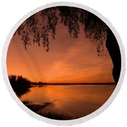 Round Beach Towel featuring the photograph This Is A New Day ... by Juergen Weiss