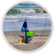 This Is A Recording Round Beach Towel