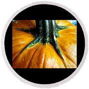 Beautiful Pumpkin. Holiday Collection 2015 Round Beach Towel