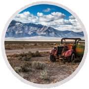This Old Truck Round Beach Towel by Robert Bales